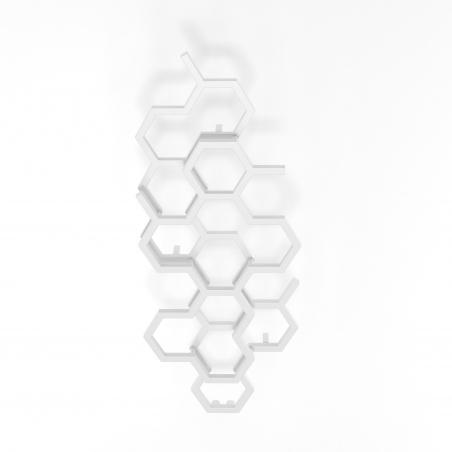 Grzejnik dekoracyjny pionowy Hex o wymiarach 122x48 w kolorze białym.