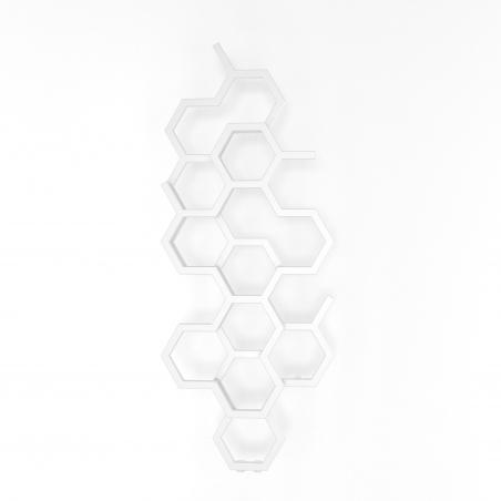 Grzejnik dekoracyjny Hex 122x48 biały.