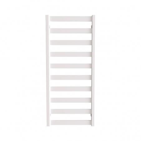 Grzejnik łazienkowy Terma Leda o wymiarach 115x50cm w kolorze białym z podłączeniem dolnym o rozstawie 470mm.