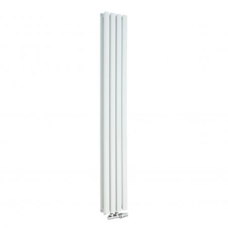 Grzejnik dekoracyjny pionowy Ultimate podwójny, 160x24 w kolorze białym.