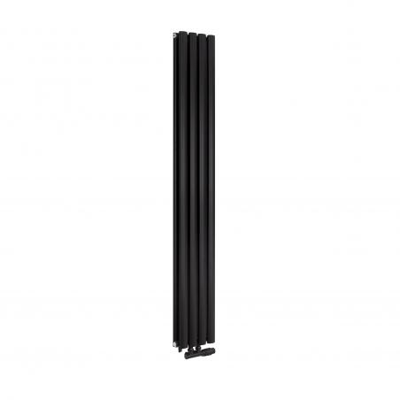 Grzejnik dekoracyjny Ultimate podwójny 160x240 w kolorze czarnym matowym.