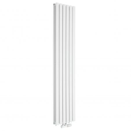 Grzejnik dekoracyjny Ultimate podwójny 160x36, w kolorze białym.