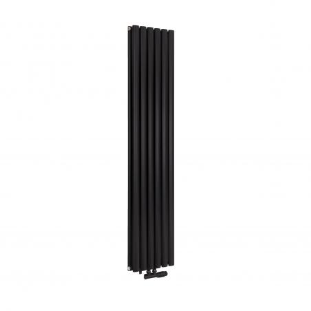Grzejnik dekoracyjny pionowy Ultimate podwójny, rozmiar 160x36 w kolorze czarnego matu.