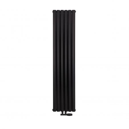 Grzejnik dekoracyjny pionowy Ultimate podwójny 160x36 w kolorze czarnym matowym.