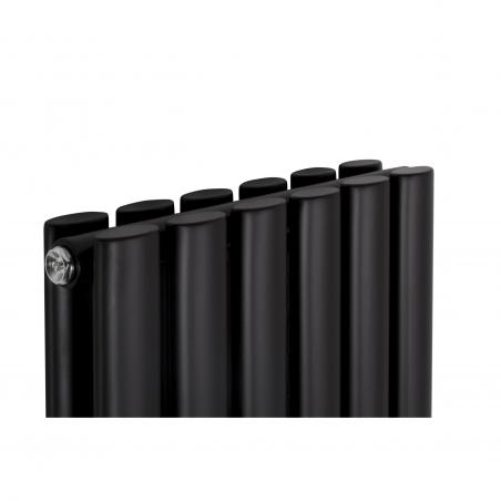 Grzejnik dekoracyjny Ultimate podwójny 160x36 kolor czarny matowy.