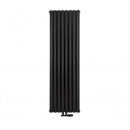 Gzrejnik dekoracyjny Ultimate podwójny, rozmiar 160x48 w kolorze czarnego matu.