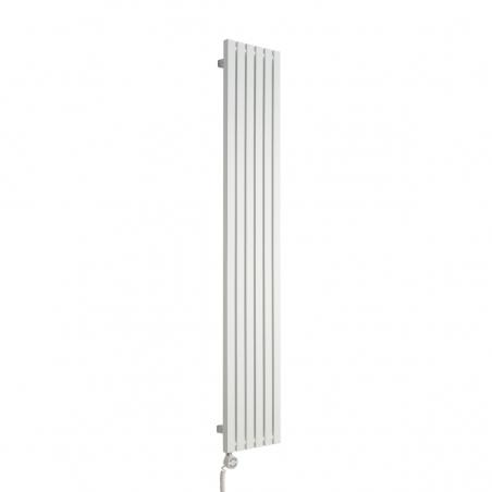 Grzejnik dekoracyjny pionowy Advantage 180x29 biały, z dopasowaną grzałką MOA 600W w kolorze białym.