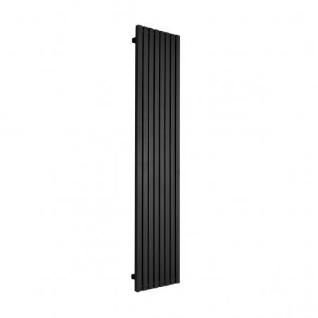 Grzejnik dekoracyjny pionowy Advantage o wymiarach 180x39 w kolorze czarnym strukturalnym.