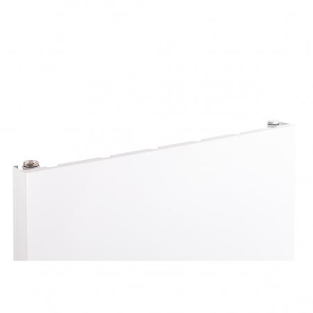 Szczegół grzejnika dekoracyjnego SP20 160x50 białego.