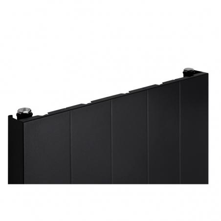 Szczegół grzejnika dekoracyjnego SPL10 160x50 czarnego.