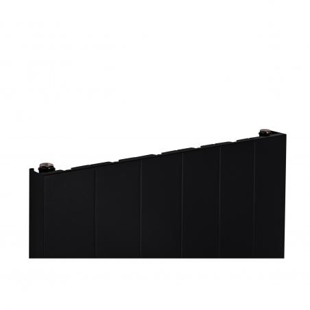 Szczegół grzejnika dekoracyjnego SPL10 160x60 czarnego.