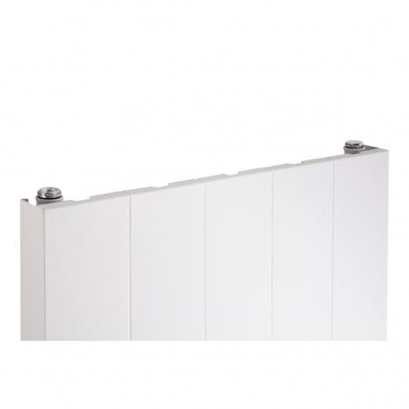 Szczegół grzejnika dekoracyjnego SPL20, 160x50 białego.