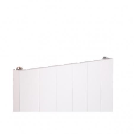 Szczegół grzejnika dekoracyjnego SPL20, 160x60 białego.