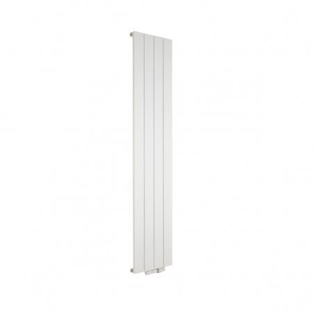 Grzejnik dekoracyjny Drama 180x37 biały z zaworem termostatycznym Twins w figurze prawej, biały.
