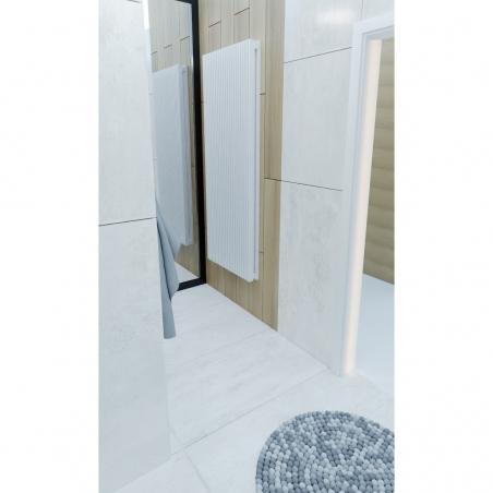Grzejnik dekoracyjny Samum 1, 180x67 w kolorze białym.