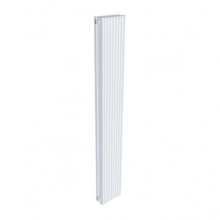 Grzejnik dekoracyjny pionowy Samum 2, o wymiarach 180x25 w kolorze białym.