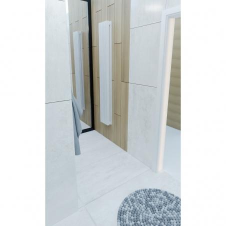Grzejnik dekoracyjny Samum 2, 180x25 w kolorze białym.
