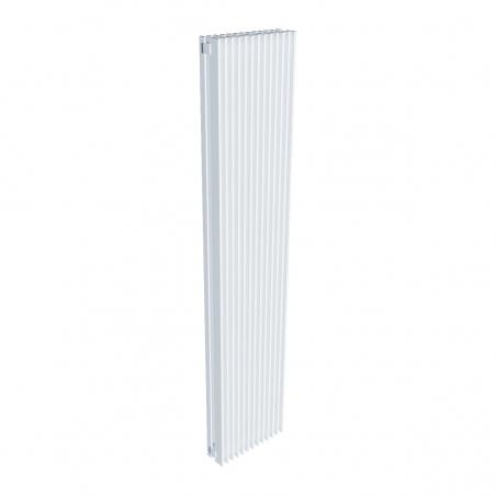 Grzejnik dekoracyjny pionowy Samum 2, o wymiarach 180x37 w kolorze białym.