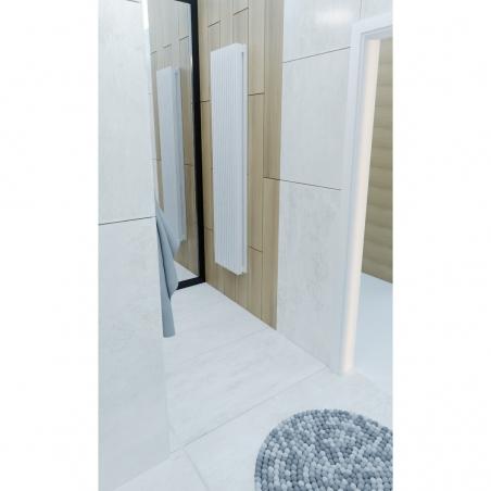Grzejnik dekoracyjny Samum 2, 180x37 w kolorze białym.