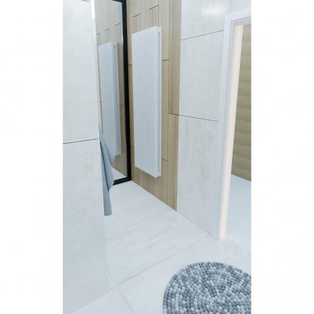 Grzejnik dekoracyjny Samum 2, 180x52 w kolorze białym.