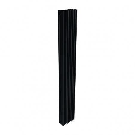 Grzejnik dekoracyjny pionowy Samum 2, o wymiarach 180x25 w kolorze czarnego matu.