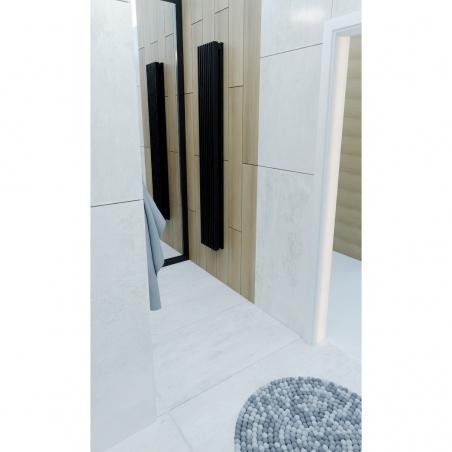 Grzejnik dekoracyjny Samum 2, 180x25 w kolorze czarnego matu.
