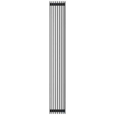 Grzejnik dekoracyjny Samum podwójny 180x25 czarny.
