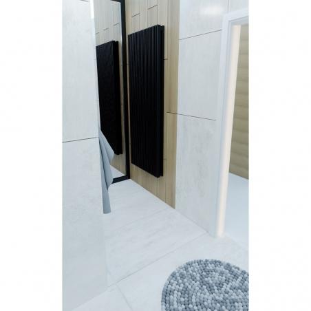 Grzejnik dekoracyjny Samum 2, 180x67 czarny.