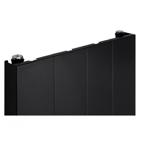 Szczegół grzejnika dekoracyjnego SPL10 160x40 czarnego.