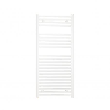 Grzejnik łazienkowy drabinkowy Constans 110x50cm w kolorze białym z podłączeniem dolnym o rozstawie 455mm.