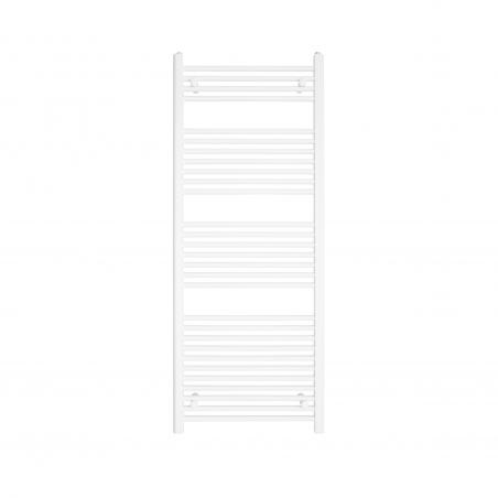 Grzejnik łazienkowy drabinkowy Constans 150x60cm w kolorze białym błyszczącym z podłączeniem dolnym o rozstawie 550mm.