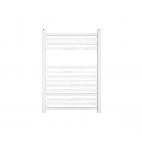 Dekoracyjny grzejnik łazienkowy Essence o wymiarach 70x50cm w kolorze białym z podłączeniem dolnym o rozstawie 470mm.