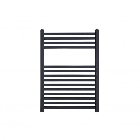Dekoracyjny grzejnik łazienkowy Essence o wymiarach 70x50cm w kolorze antracytowym / grafit struktura z podłączeniem dolnym o rozstawie 470mm