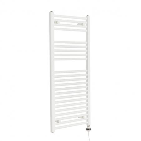 Grzejnik łazienkowy elektryczny Constans o wymiarach 110x50 z grzałką elektryczna REG3 400W białą.