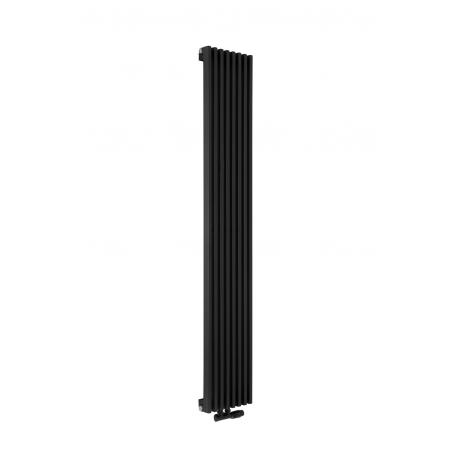 Profil grzejnika dekoracyjnego Diva 180x30 w kolorze czarnym.
