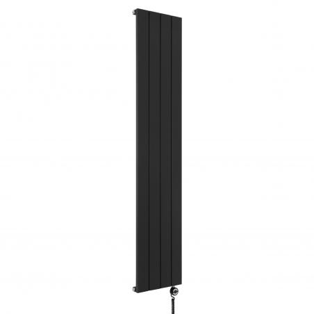 Grzejnik dekoracyjny Drama 180x37 w kolorze czarnym z dopasowaną kolorystycznie grzałką MOA 600W.