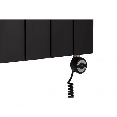 Grzałka elektryczna MOA 1000W w kolorze czarnym dopasowana do grzejnika dekoracyjnego pionowego Drama 180x56 czarnego.